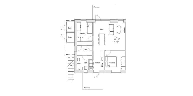 3-værelses 87 -101 m2 - Plantegning
